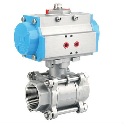 Sanitary Stainless Steel 3PC Pneumatic Ball Valve