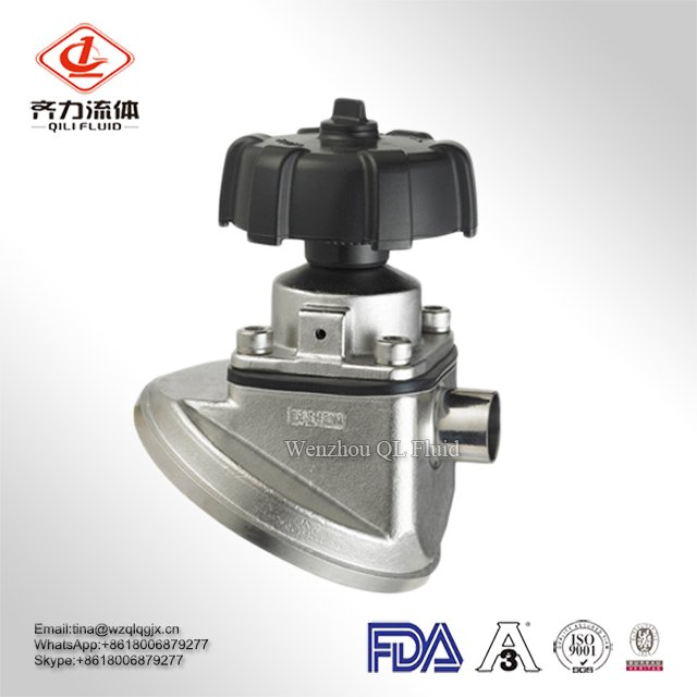 Stainless Steel 316L Dn40 Tank Bottom Diaphragm Valve Sanitary