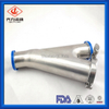 Stainless Steel Y Type BALL CHECK VALVE for Air, Water, Beer Brew Dairy with Clamp Connection meet 3-A