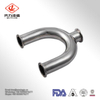 304/316L Stainless Steel Wye 180degree Clamped Tee Pipe Fitting elbow
