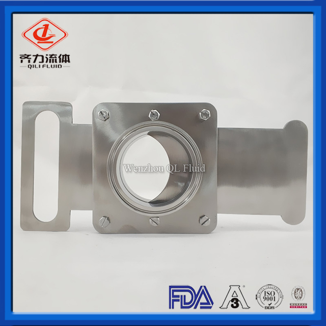 Stainless Steel Sanitary Slide Gate Assembly
