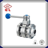 Sanitary Stainless Steel Clamped Weld Threaded Butterfly Valve