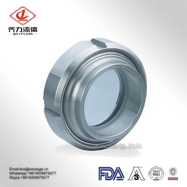 China Supplier Stainless Steel SUS 304/ 316L Weld on Sanitary Tank Union Sight Glass
