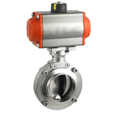 Pneumatic Sanitary Welded Type Butterfly Valve