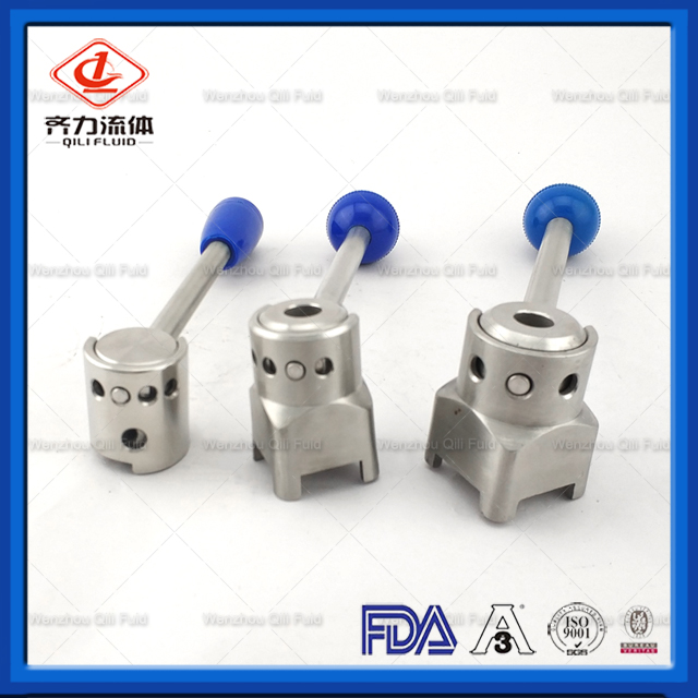 Sanitary Stainless Steel Butterfly Valve Plastic Trigger Handle