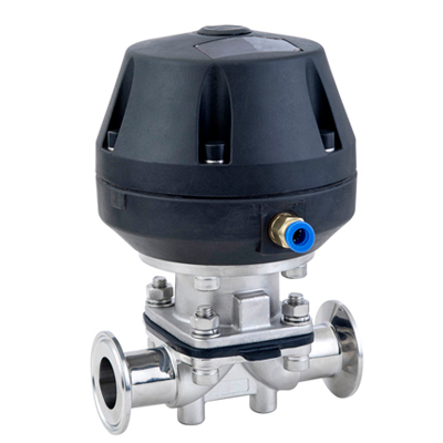 Sanitary Stainless Steel Pneumatic Diaphragm Valve With Sample