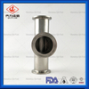 Sanitary Stainless Steel 304 316L Clamped Fittings Equal Tee