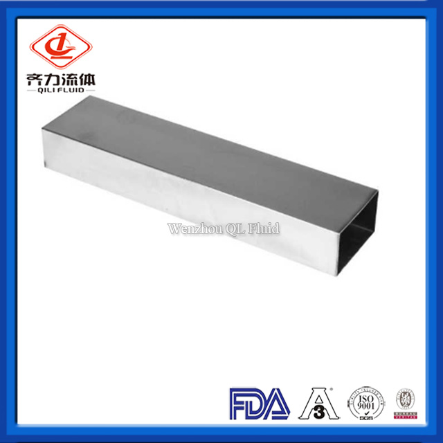 Sanitary Stainless Steel Seamless Square Pipe