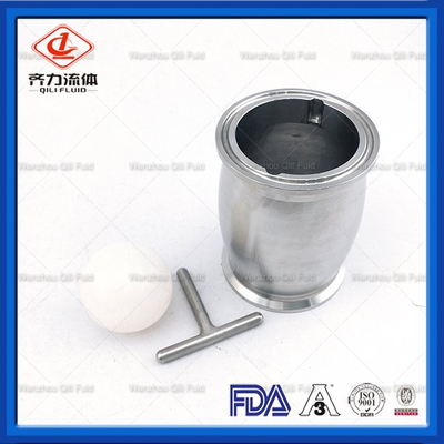 Stainless Steel Sanitary Check Valve Ball Type with Manual Drain