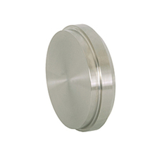 Sanitary Stainless Steel Plain Bevel Seat Solid End Caps 16A