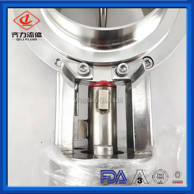 Sanitary SS Pneumatic flow control Butterfly Valve