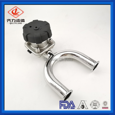 Sanitary manual U-type Clamp Ends diaphragm valve for flow control