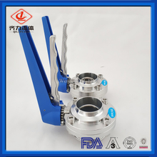Sanitary Stainless Steel Male & Welding Butterfly Valve with Multi-connection