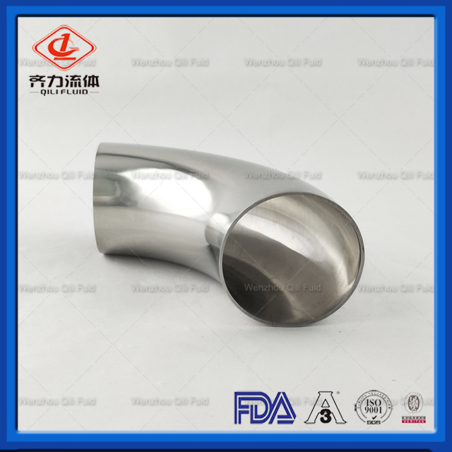 Sanitary Stainless Steel 304 316L Polished 90degree Weld Short Elbow