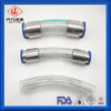 Food liquids flexible tube PVC Dust hose clear Spiral Wire Reinforced