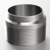 Sanitary Stainless Steel Unpolished Male NPT x Weld End Adapter 19WB