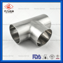 Sanitary Stainless Steel 304 316L Equal Welded Tee