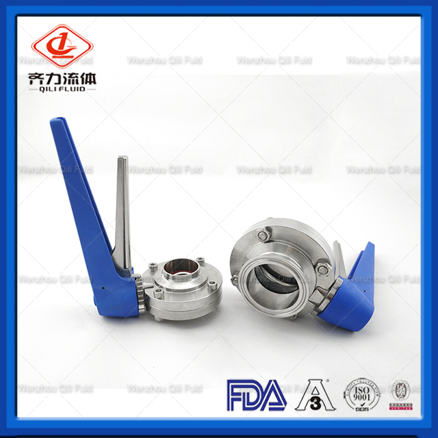 Sanitary Butterfly Valve with Stainless Steel Multi Handle Tc Type