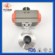 3A DIN SMS Sanitary Dairy & Milk Pneumatic Customized High Platform Actuator Butterfly Valve