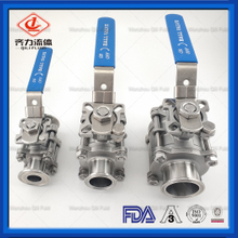 High Quality Manual Food Grade Full Bore Encapsulate PTFE Ball Valves